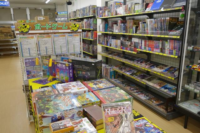 イエローサブマリン広島ショップのボードゲームコーナー