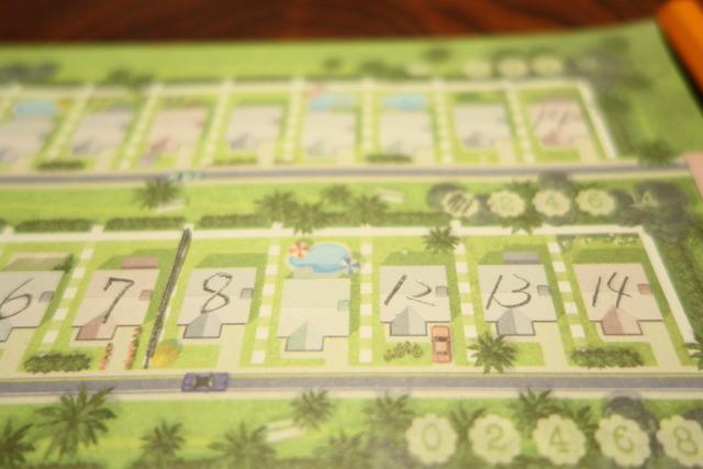 8と12に挟まれた空いている家マスの写真