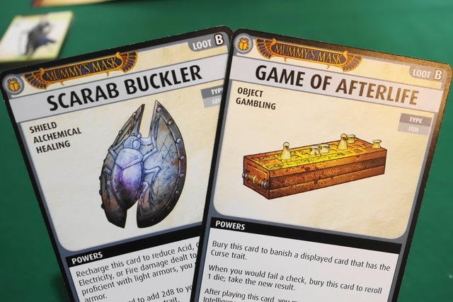 Card : Scarab Buckler & Card : Game of Afterlife