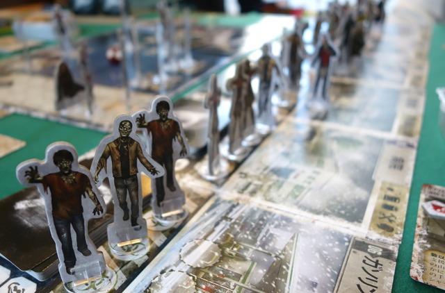 ゾンビ駒が並んでいる写真