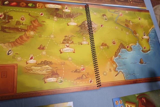 ブック形状のゲームボードの写真