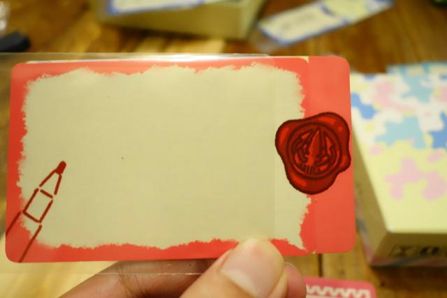 配られたカードの写真