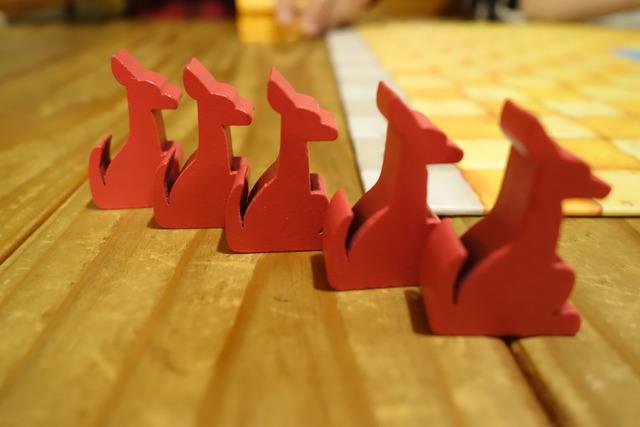 カンガルー駒が整列している様子