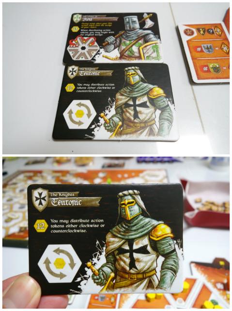 2枚の騎士カードから1枚を選択した写真