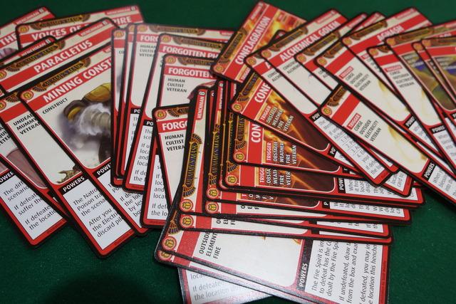 手下カードの数々の写真