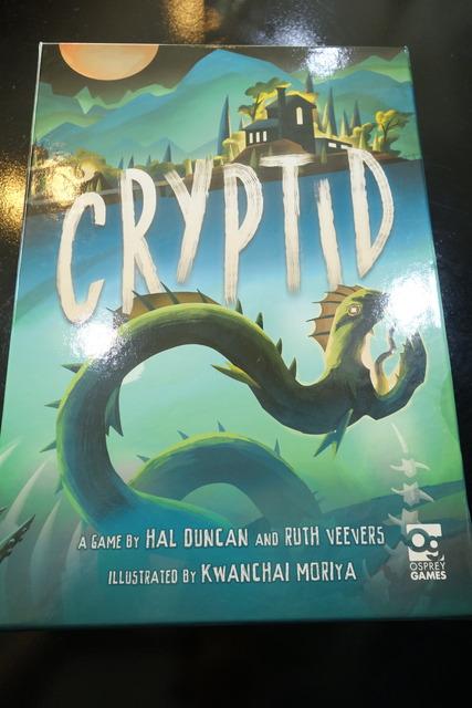 ボードゲーム『Cryptid』のパッケージ
