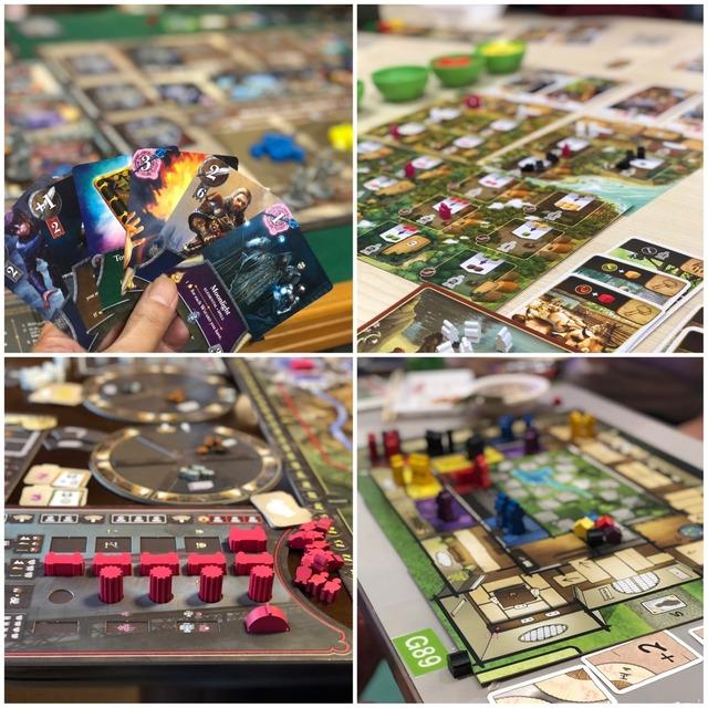 4つのボードゲームの写真