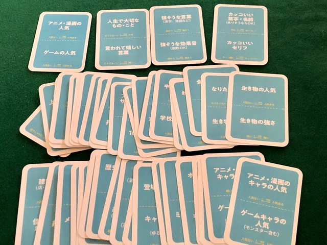 テーマカード表面の写真
