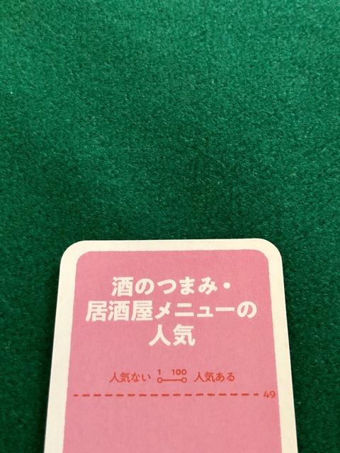テーマカードのアップ写真