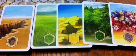 土地カードの写真