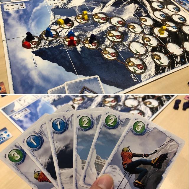 ボドゲ『K2』のプレイ写真