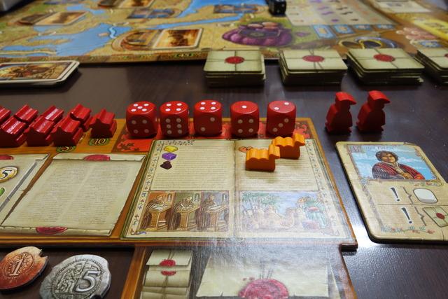 ボードゲーム『マルコポーロの旅路』のプレイヤーボード