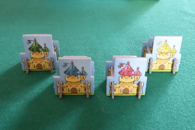 各プレイヤー用の4つの城