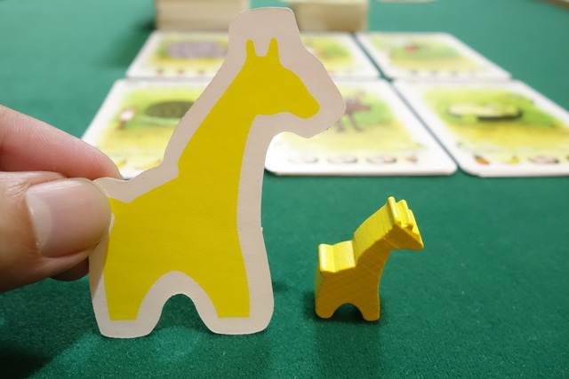 ボドゲ『フルーツジュース』のキリン駒