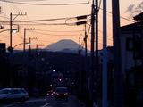 富士見通りの大きな冨士