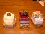 クラフトケーキ3つ