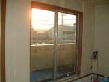 D棟2月15日リビングからベランダを見る