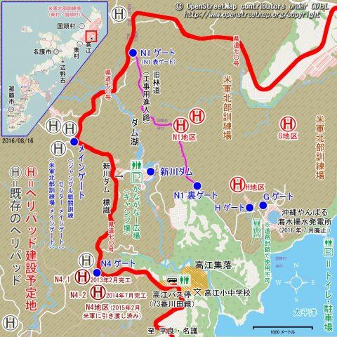 沖縄基地地図