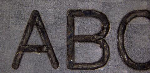 炭素繊維の印字拡大