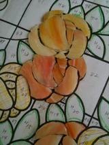 オレンジのバラ パネル
