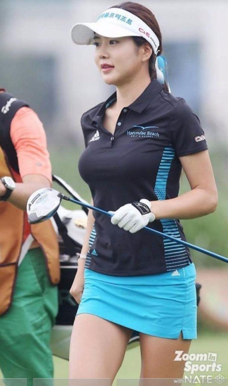 美女ゴルファー「日韓バスト杯」競艶ラウンド!フェロモン全開で大人気のアン・シネ