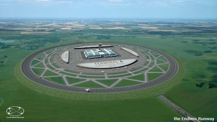 直径3キロの円形滑走路で大量の航空機離着を可能にする画期的なアイディアを公表…EU航空宇宙機関!