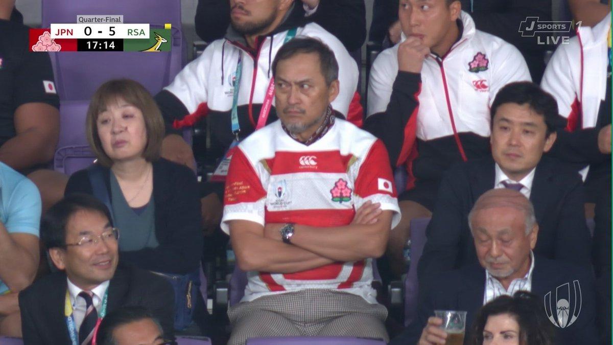 渡辺謙、ラグビー日本戦でブチ切れている姿を発見される