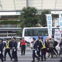 韓国報道「日本の右翼が東京でまた嫌韓デモ…『韓国と断交せよ』」