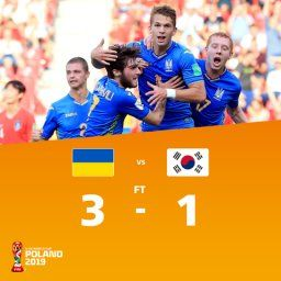 U20サッカーW杯決勝 ウクライナが韓国下し優勝
