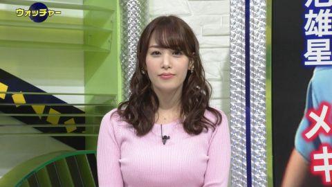 テレ東 鷲見玲奈アナ(28)「私のおっぱい、そんなに大きいかしら?」(※画像あり)