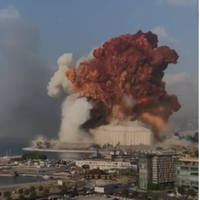 【粉塵爆発】レバノンの首都ベイルートの花火倉庫で大規模な爆発…きのこ雲が出来るほど…現地の様子まとめ