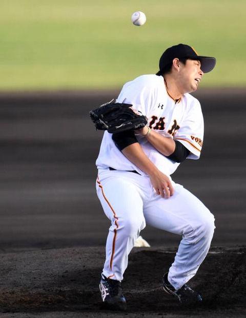 【巨人】高木勇人「山田打球直撃」「バンド手に直撃」負傷降板の様子がヤバい・・・