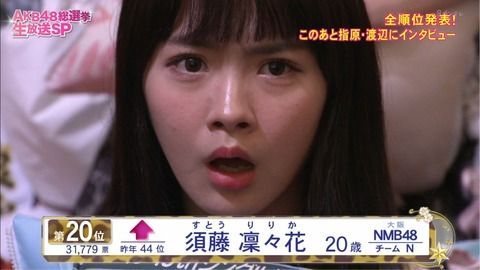 【結婚発表】NMB須藤凜々花(りりぽん)が総選挙2日前に衝撃発言をしていたwwwwww