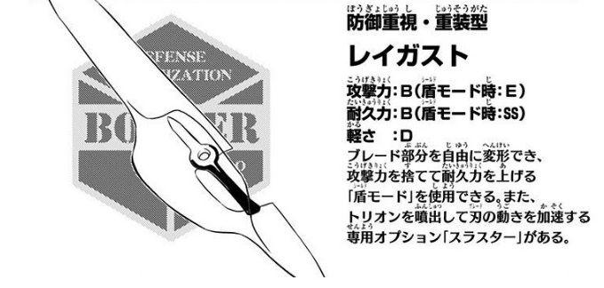d6a3098b - 【ワートリ】レイガストのナイフと重量