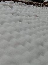 屋根の上の雪