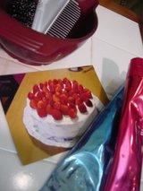 my hand made cake!
