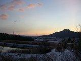 雪と初日の出