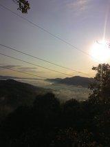 龍王山から見た朝もや
