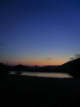 夜明け(冬の空)