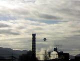 気球と煙突