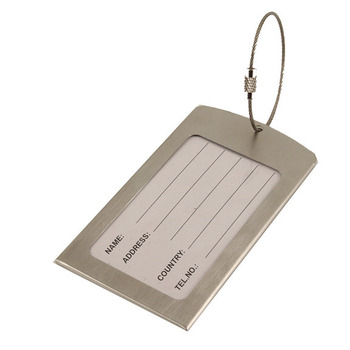 VW Stainless Steel Luggage Tag
