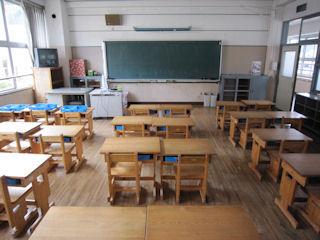 掃除した教室