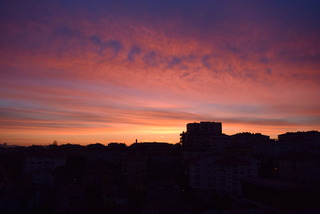 イスタンブールの朝焼け