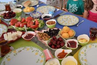 トルコの家庭の朝食