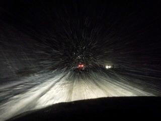 雪の舞鶴若狭道