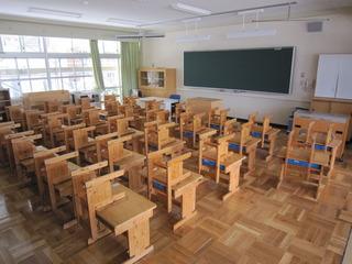新1年生教室の様子