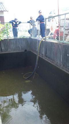 防火水槽の清掃