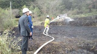 国領温泉の火事