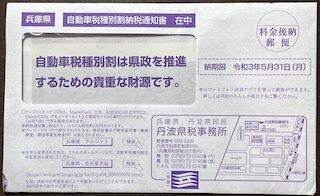 自動車税種別割納税通知書