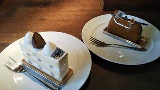 栗のショートケーキ と Trois